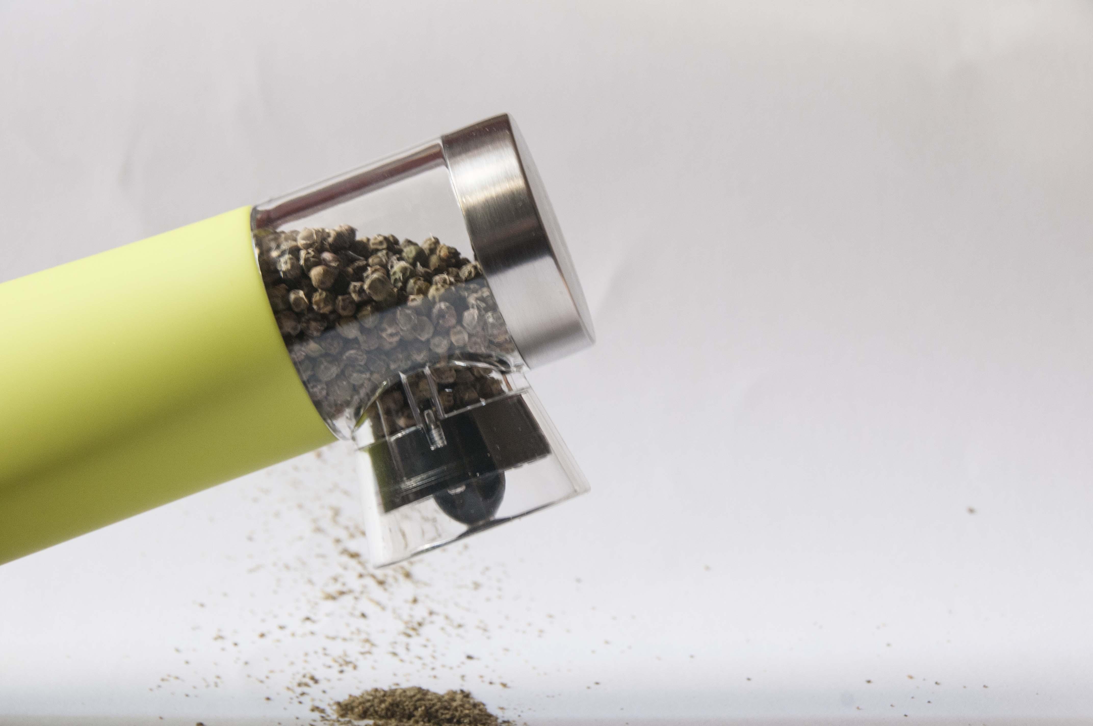 Macinapepe automatico gommato acciaio inox