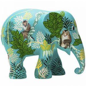 Elefante scimmia business arte mostra